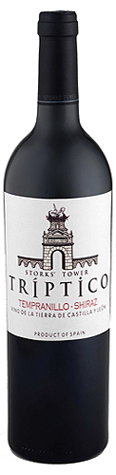 Vino Tríptico Tempranillo Shiraz 2007