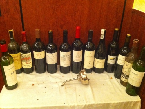 Todos los vinos de la cata ...