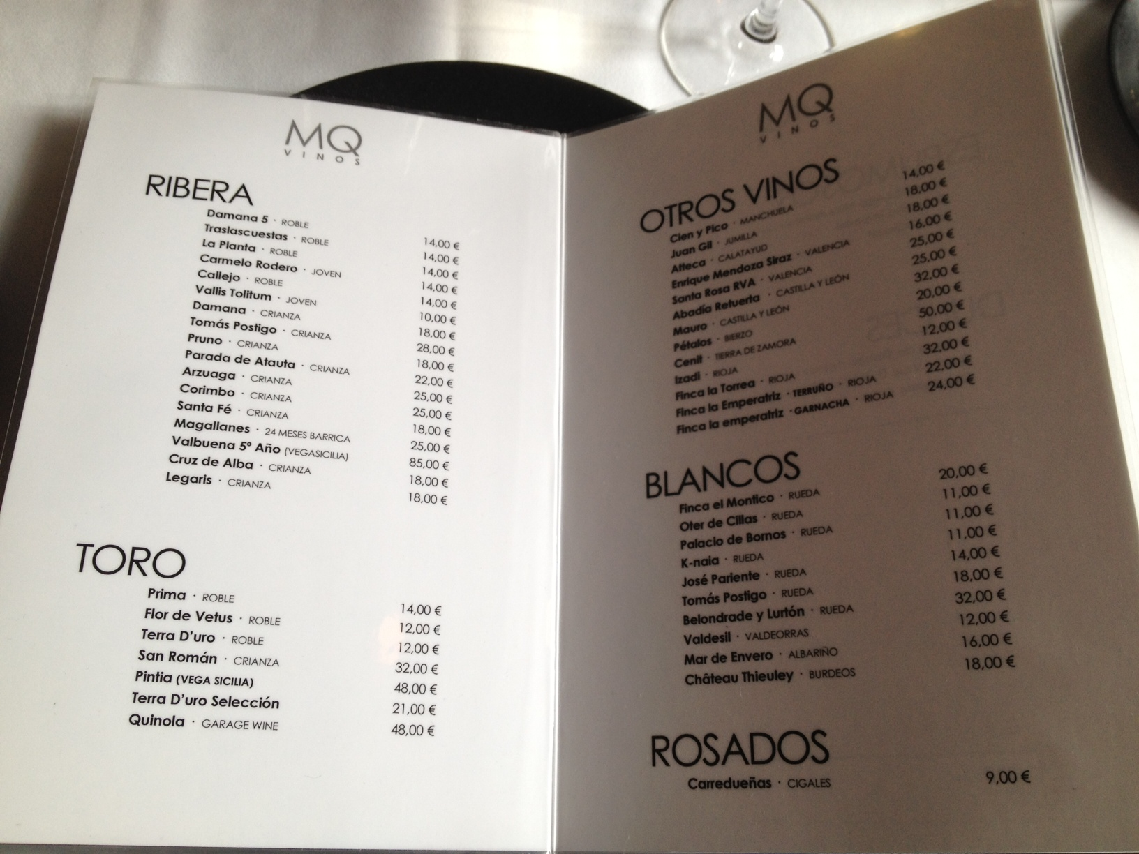 Constancia Restaurant Menu