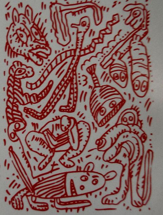 Fragmento de Javier Pagola (Serigrafia de Javier Cebrián)