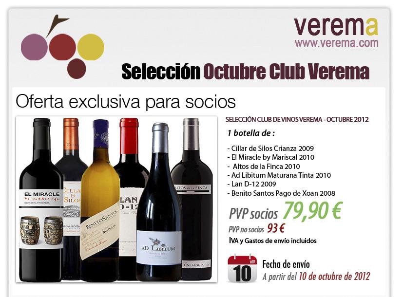 Nueva Selección Club de Vinos Verema - Octubre 2012