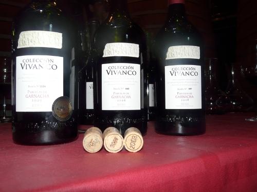 Colección Vivanco Parcelas de Garnacha 2005, 2006 y 2008