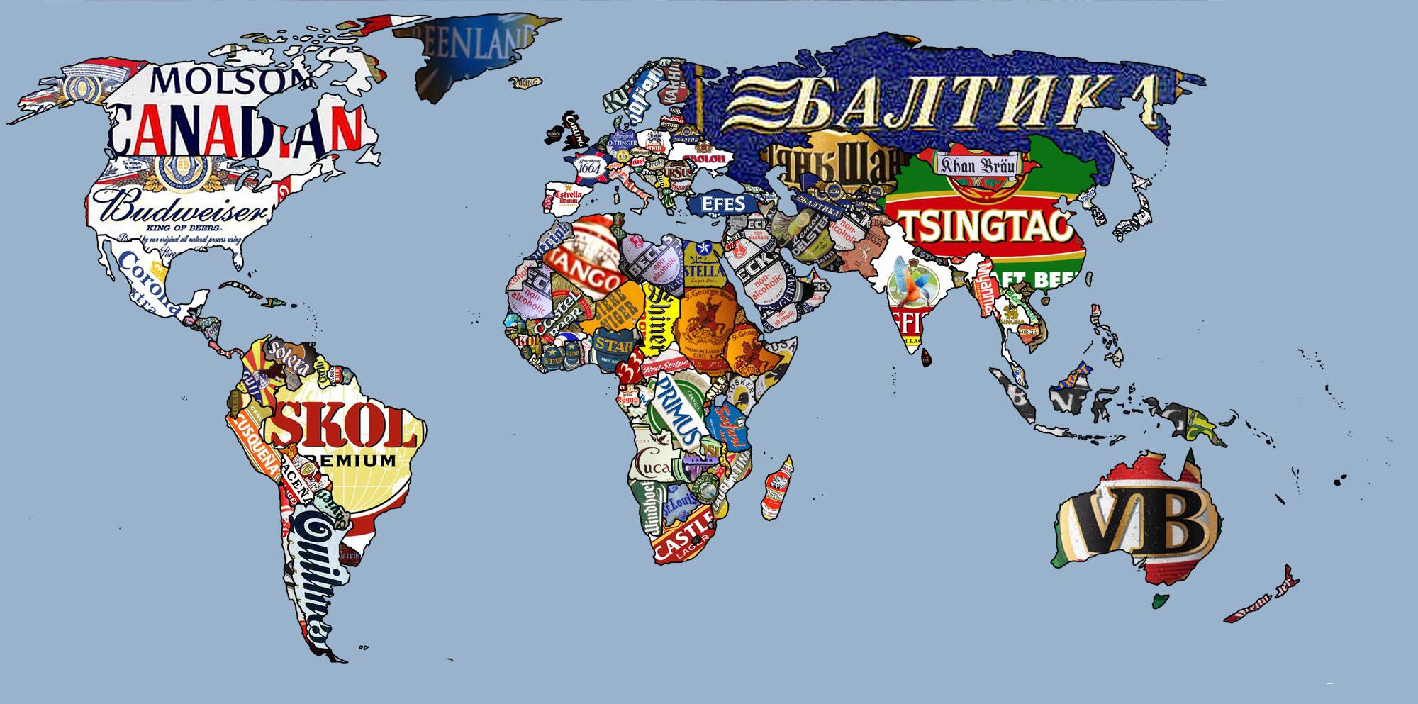 Mapa de cervezas del mundo