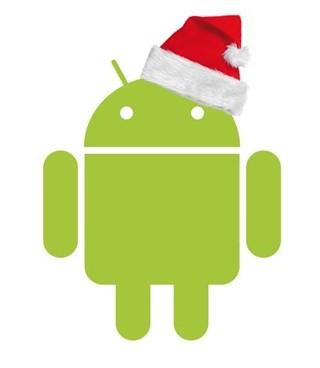 Logo navideño de Android