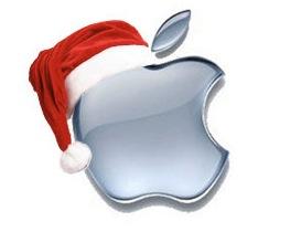 Logo navideño de Apple