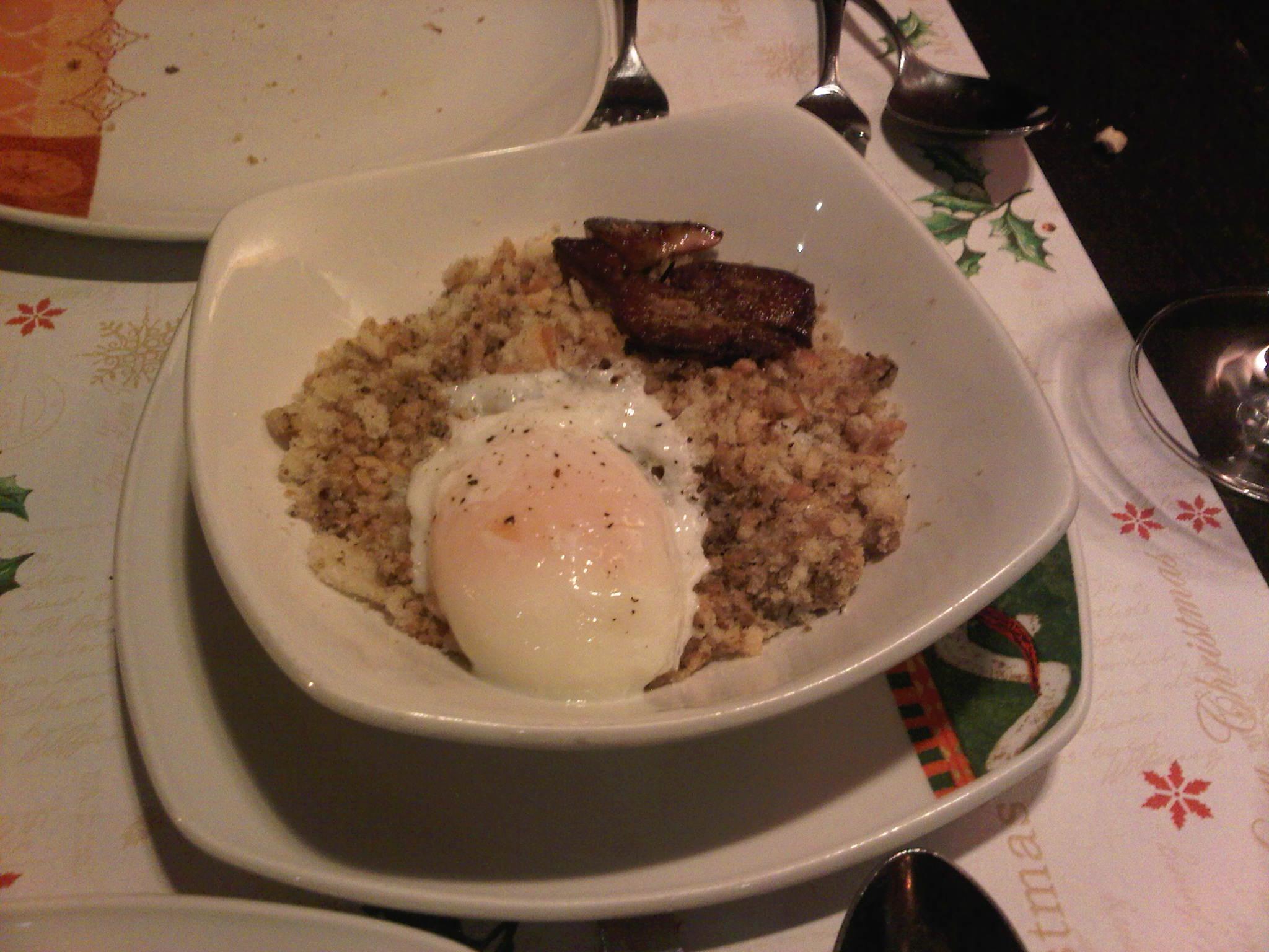 Restaurante_Palomeque_Zaragoza_Migas_con_huevo_poché_y_foie_Aurelio_Gómez-Miranda