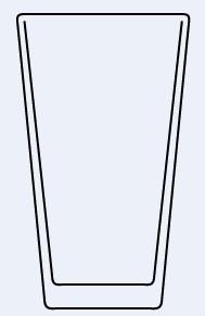 Vaso de Pinta Americana o Shaker