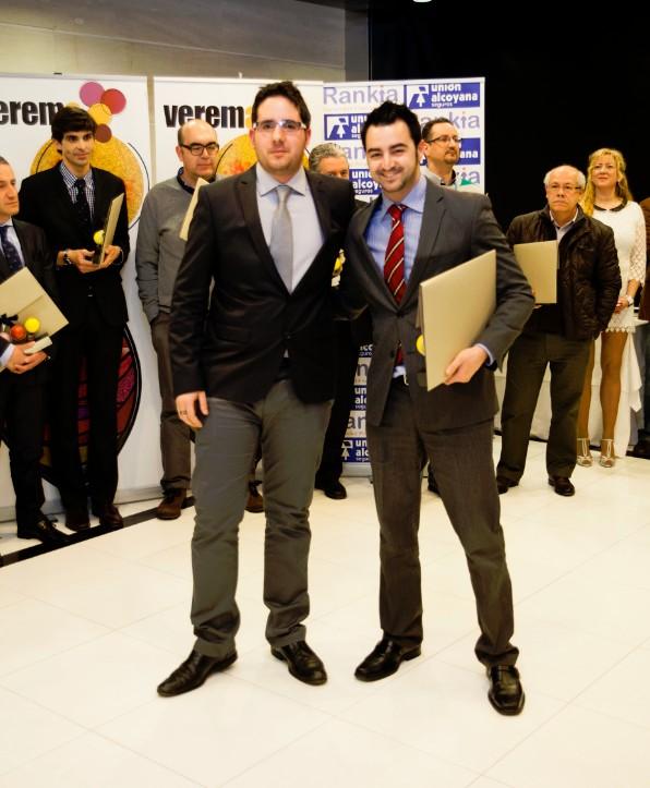 Premios Verema Jorge Porcel y Rubén Adán
