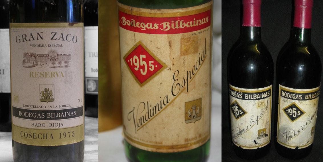 Gran Zaco V.E. 1973 GR, Vendimia Especial Etiqueta Roja 1955 y Vendimia Especial Etiqueta Negra 1955: el estilo más borgoñón de Bodegas Bilbaínas