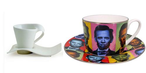 Tazas de porcelana para té
