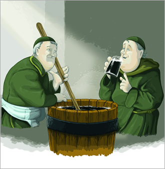 Monjes elaboración cerveza