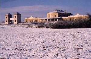 Bodega Marqués de Velilla nevada en invierno