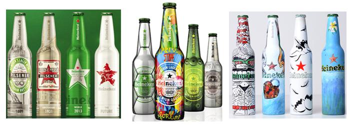 Diseños de cervezas Heineken