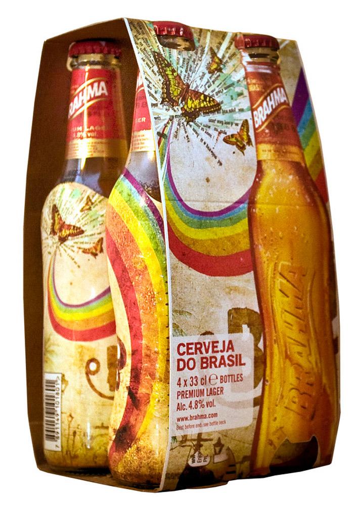 envase de la Cerveza Brahma