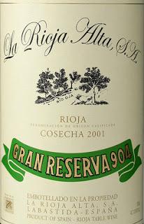La Rioja Alta Gran Reserva 904 2001