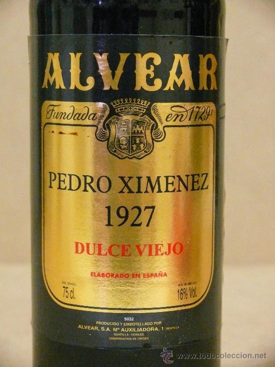 Alvear Pedro Ximénez 1927