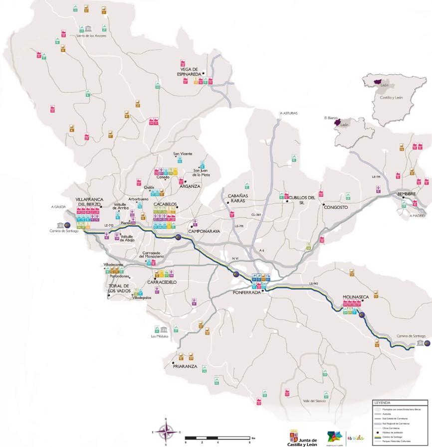 Mapa de la Ruta en El Bierzo