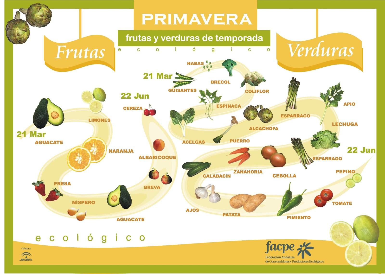 Frutas y Verduras - Primavera