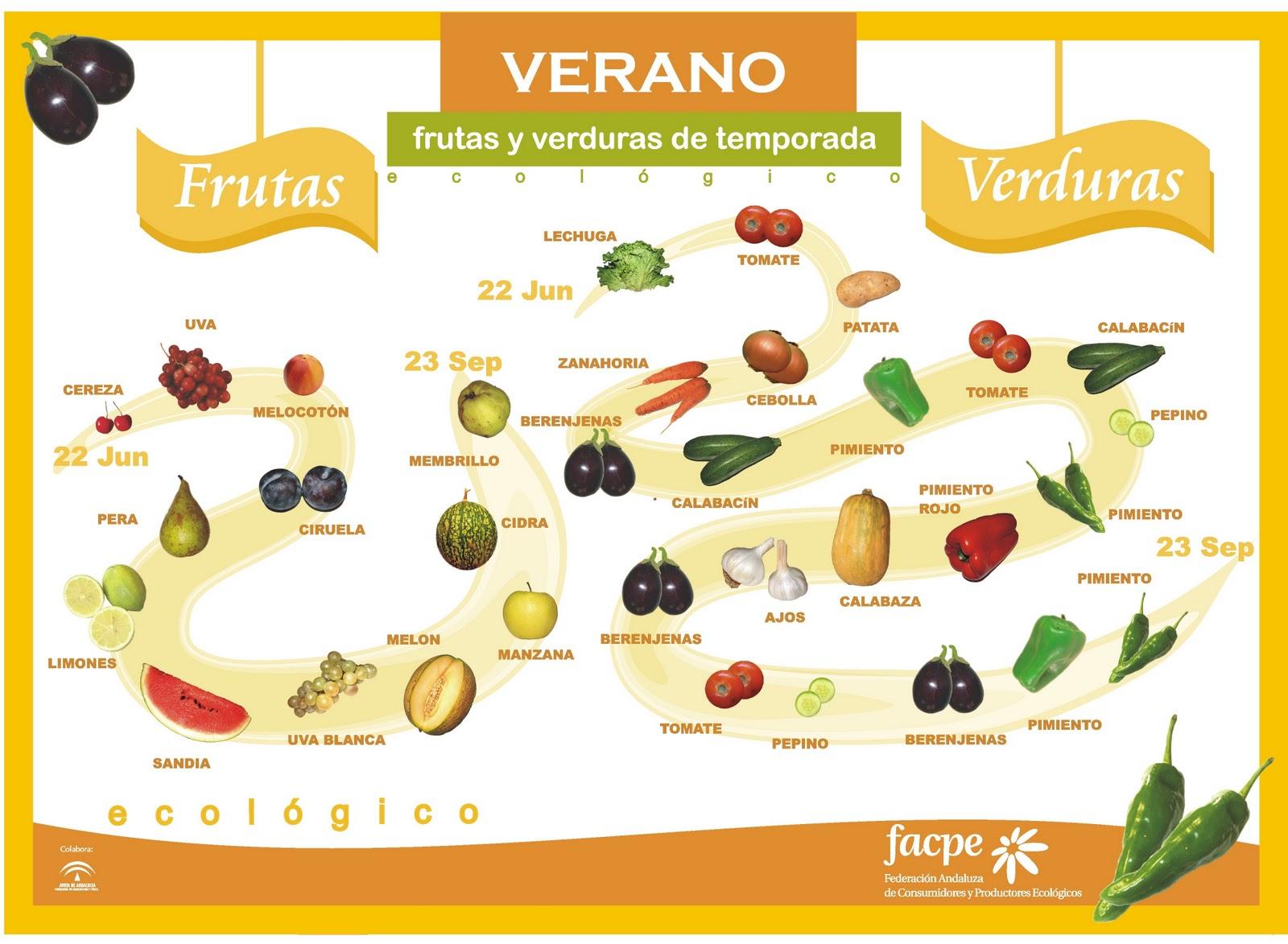 Frutas y Verduras - Verano