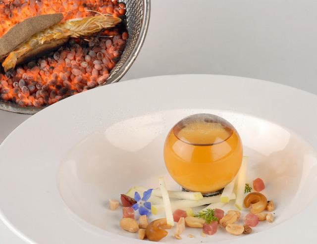 Plato de Angel Leon, restaurante Aponiente