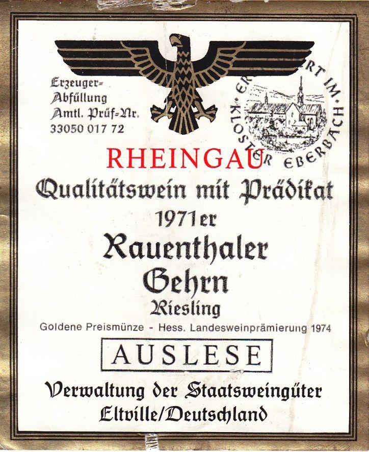 clasificación vinos alemanes, Auslese