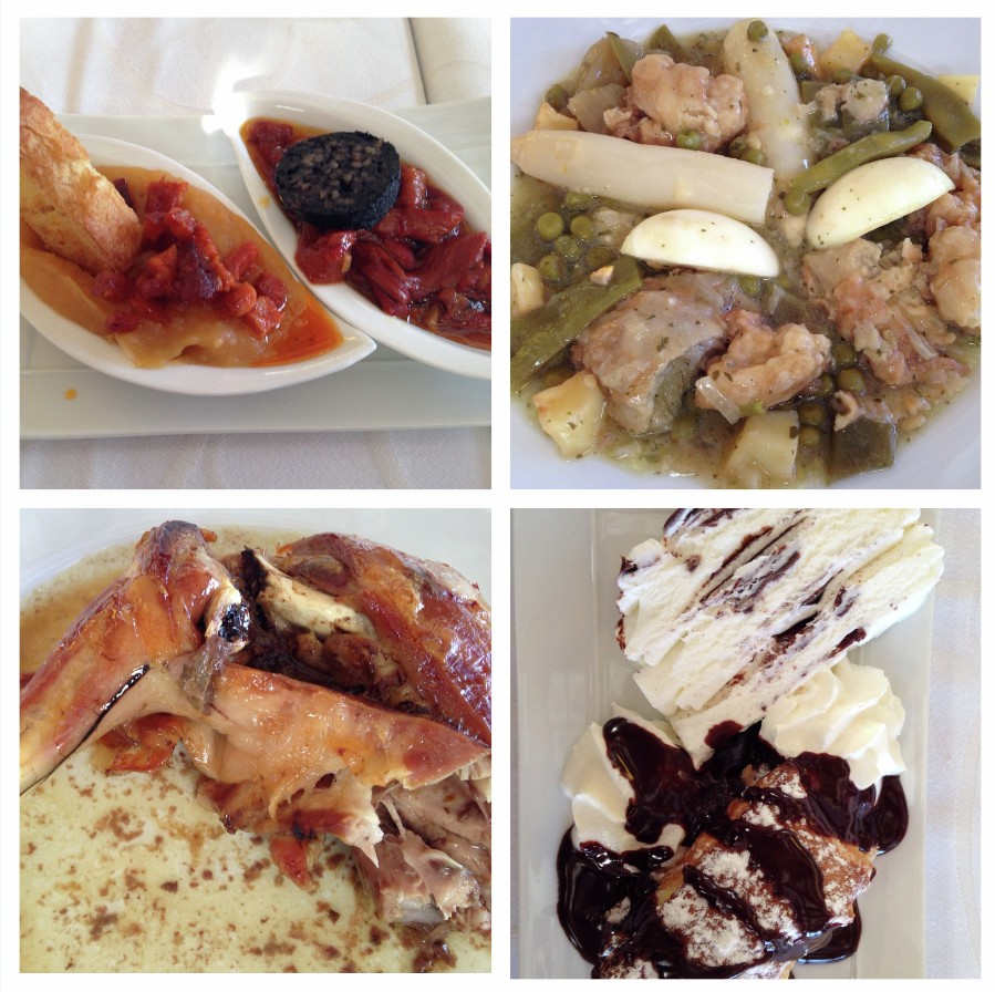 Increible comida maridada. Bodegas Beronia