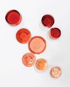 Color del vino rosado
