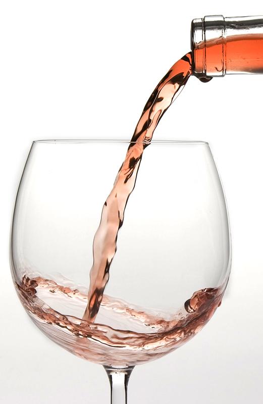 Copa de vino rosado, vino gris