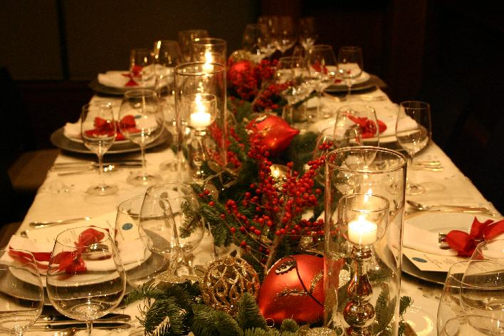 Compartamos nuestras comidas y cenas de navidad - Decoracion navidena para la mesa ...