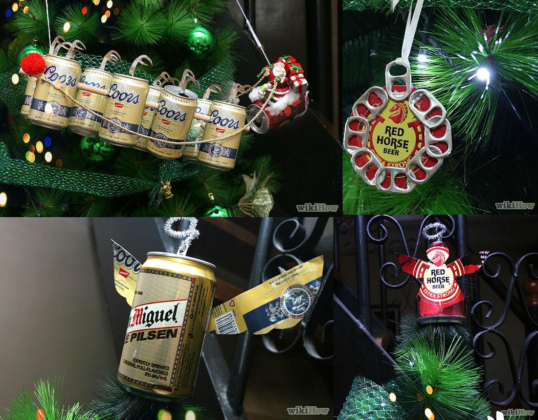 Manualidades con latas de cerveza.fuente: Wikihow
