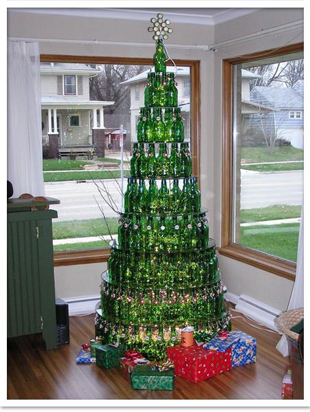 Manualidades para Navidad con chapas botellines y latas de cerveza