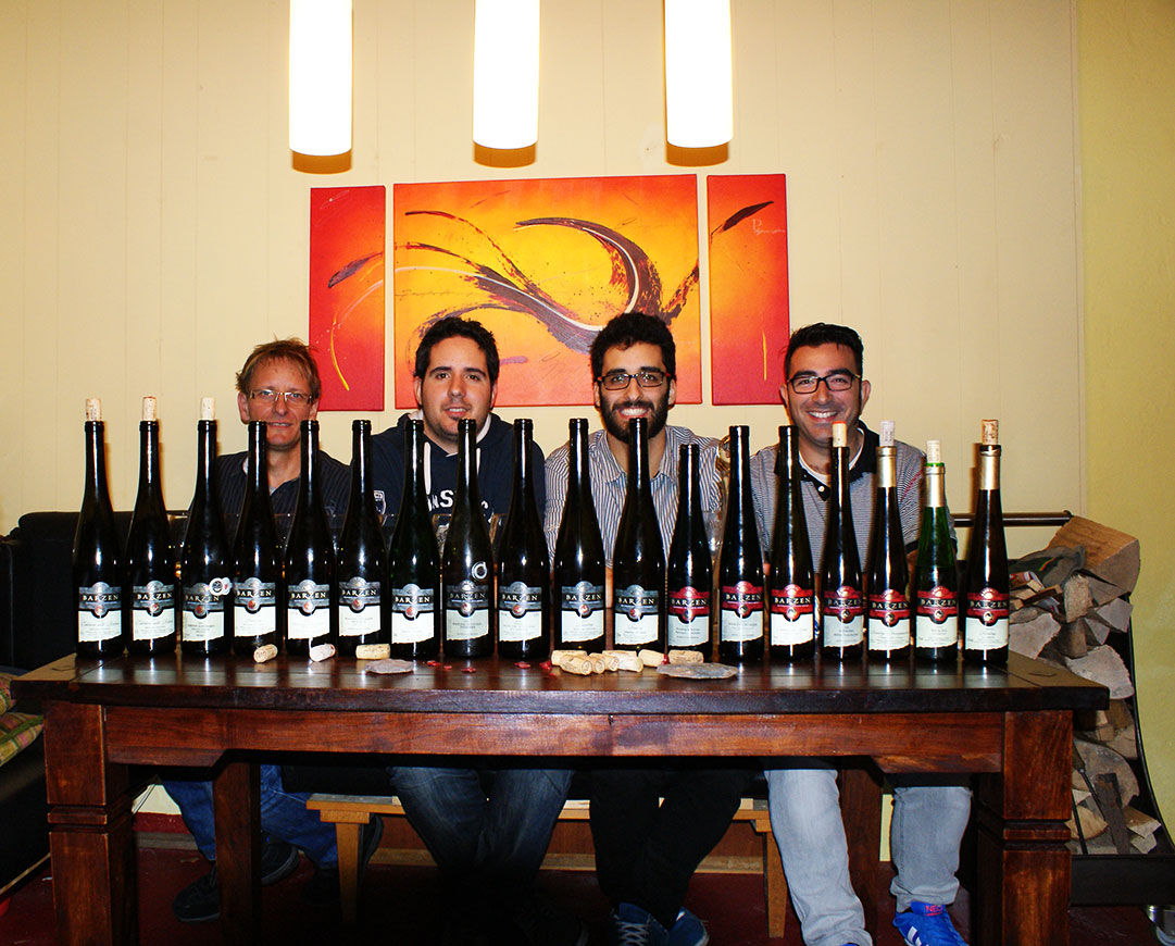 Cata vertical con vinos Riesling de Barzen