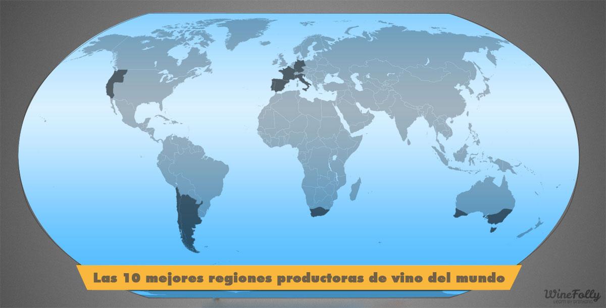 Las 10 mejores regiones productoras de vino del mundo