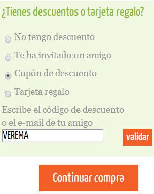 Código de descuento en YoComoBien para usuarios de Verema
