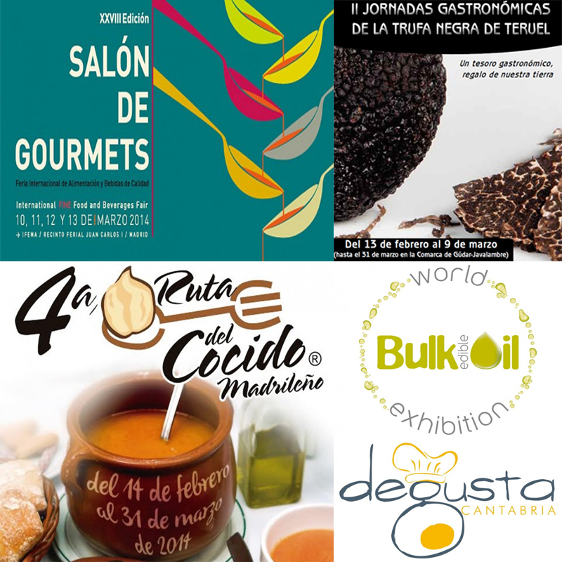 Próximos eventos gastronómicos en España hasta marzo de 2014