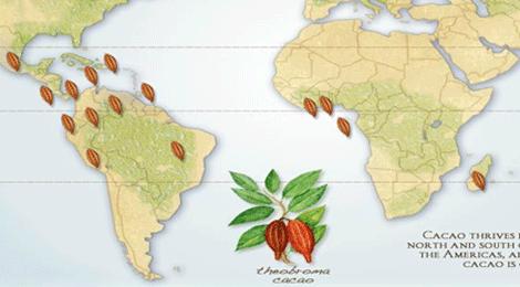 mapamundi del chocolate