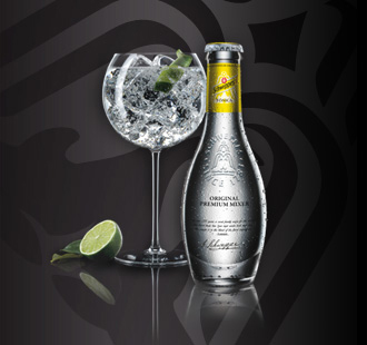 Gin tonic con tonica Schweppes