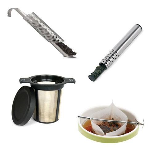 Filtros de orificios pequeños para el té