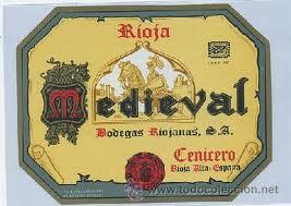 Etiqueta Vino Medieval Rioja