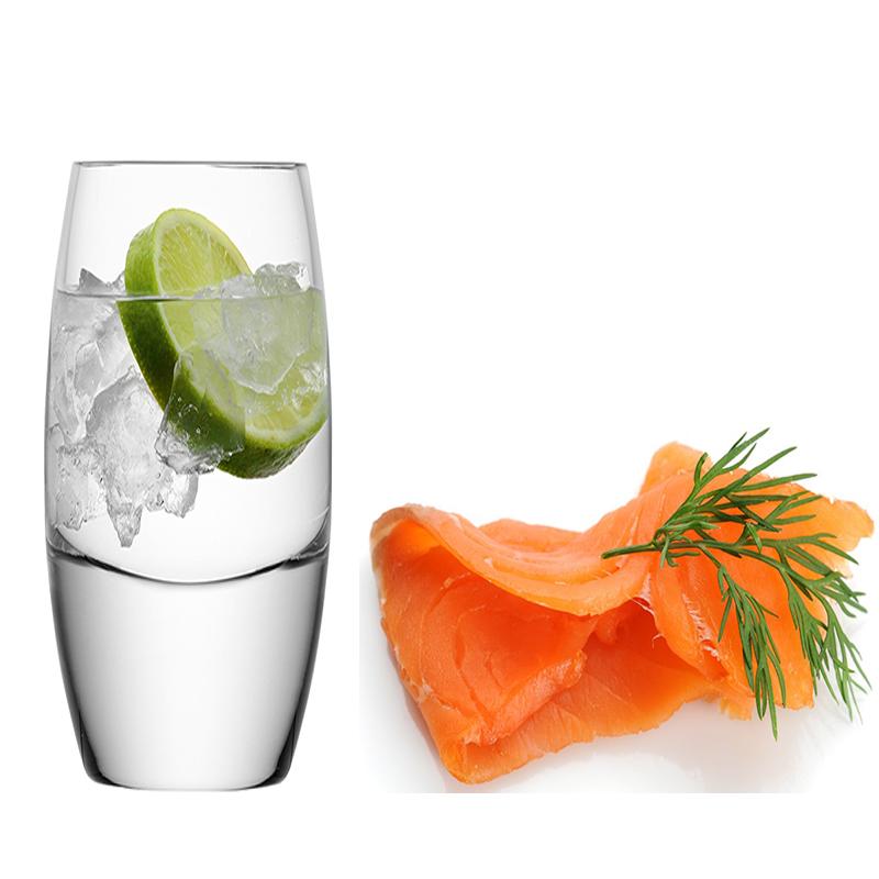 Vodka con Salmon ahumado
