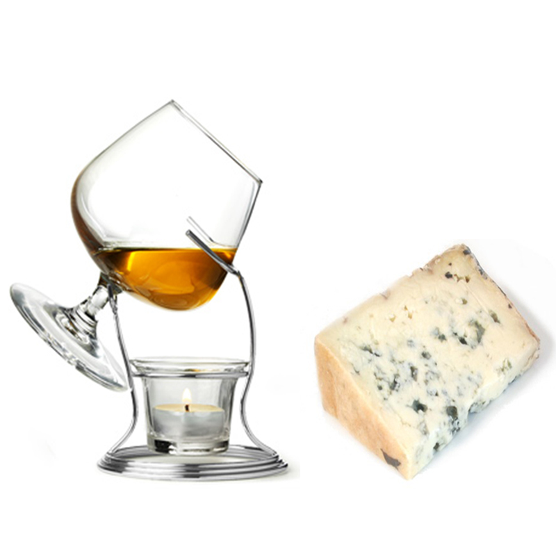 Copa de Brandy con queso azul