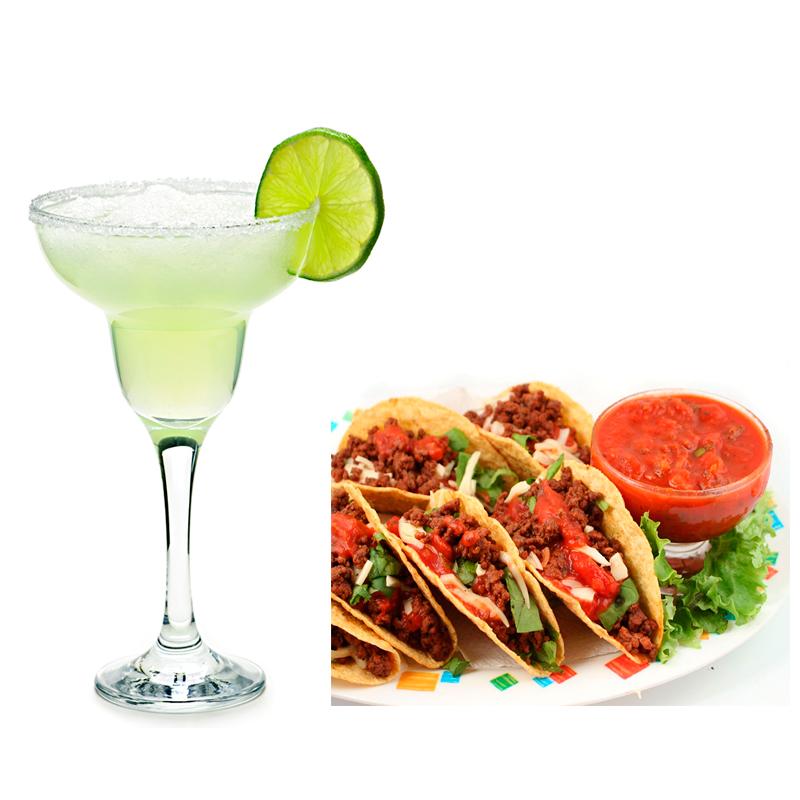 Margarita con comida picante