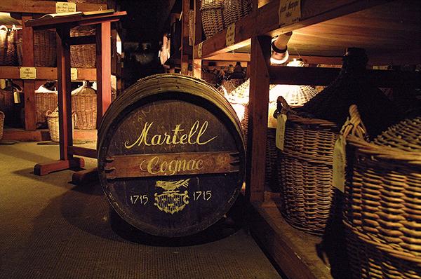 Producción de coñac Martell
