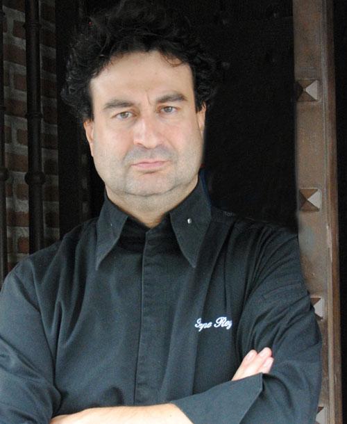 Pepe Rodríguez en el restaurante El Bohio