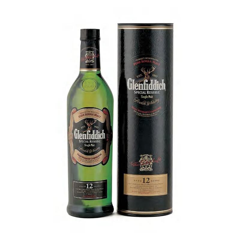 Botella de Glenfiddich Single Malt