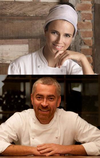 Helena Rizzo y Alex Atala
