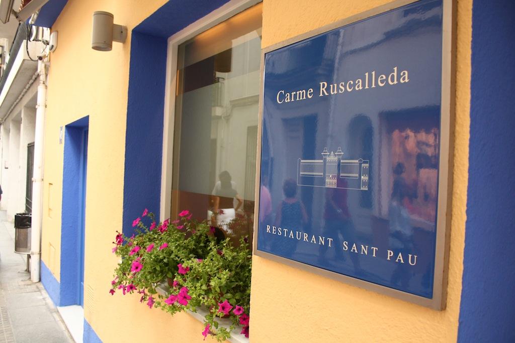 Fachada restaurante Sant Pau de Carme Ruscalleda