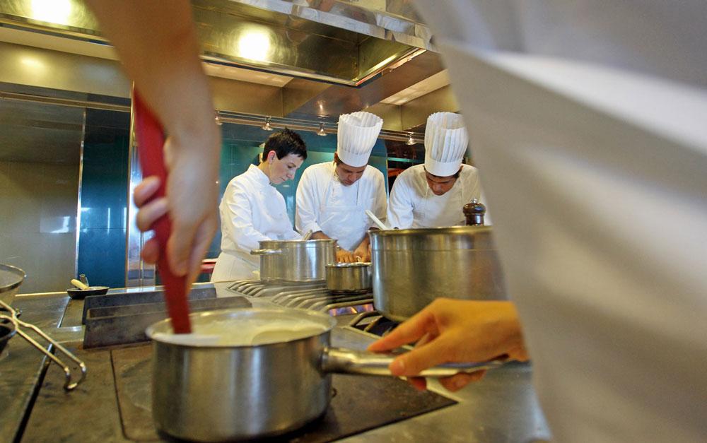 Cocina del restaurante Sant Pau