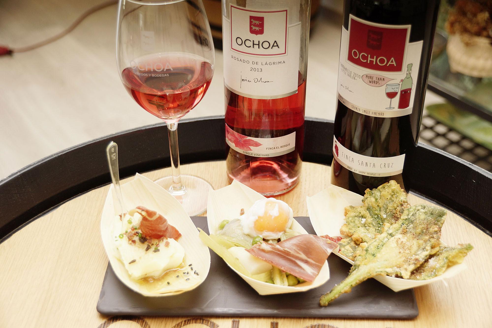 Cata de vinos Ochoa