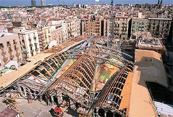 Obras del Mercado Santa Caterina